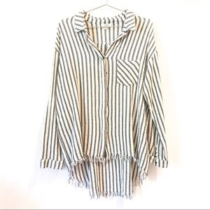 Umgee | Striped button up tunic size Large